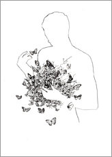 Gallery print  Butterflies in the stomach - Wadim Petunin