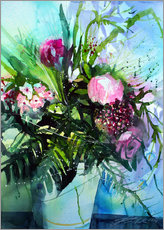 Gallery Print  Bouquet with peony - Johann Pickl