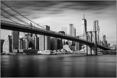 Gallery print  New York City - Brooklyn Bridge and Skyline - Dennis Fischer