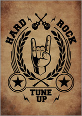 Gallery print  hard rock vintage - Durro Art
