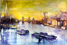 Wall Sticker  London at sunset from the Angel - Johann Pickl