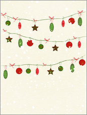 Wall sticker  happy holidays baubles - Sybille Sterk