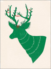 Wall sticker Green Stag