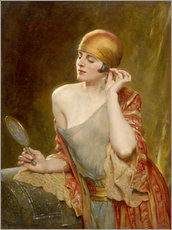 Wall sticker  The studio mirror - Albert Henry Collings