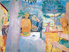 Aluminium print  The terrace in Vernon - Pierre Bonnard