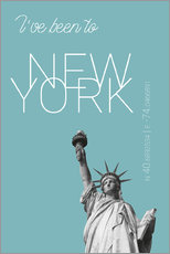 Wall sticker  Popart New York Statue of Liberty I have been to Color: Light blue - campus graphics