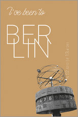 Wall sticker  Popart Berlin World Clock I have been to Color: Pale gold - campus graphics