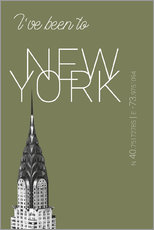 Gallery print  Popart New York Chrysler Building I have been to Color: calliste green - campus graphics
