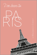 Gallery print  Popart Paris Eiffel Tower I have been to Color: blooming dahlia - campus graphics