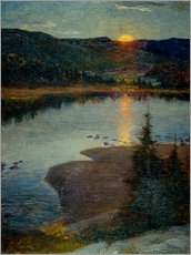 Gallery print  Moonrise in Valdres - Eugen von Schweden