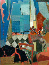 Gallery print  Window view with pipe, glass and tiled floor - Oskar Moll