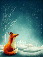 Wall sticker Fox in winter