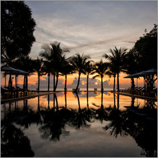 Gallery print  Luxury infinity pool on the Gulf of Thailand