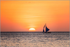 Gallery print  Sailboat in the sunset