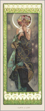 Gallery print  The moon - Alfons Mucha
