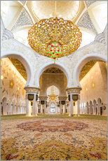 Wall Stickers  Gold sheen of the Sheikh Zayed Mosque