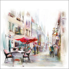 Gallery print  Scene at a Parisian cafe