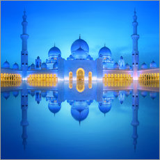 Wall sticker Sheikh Zayed Grand Mosque in blue