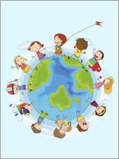 Wall Stickers  Children of the world - Kidz Collection