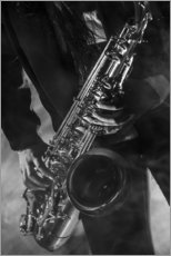 Gallery print  Close up of a saxophonist