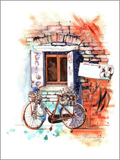 Wall sticker Italian bike near the window