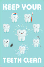 Gallery print  Keep your teeth clean - Kidz Collection