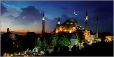 Wall sticker  View of Hagia Sophia after sunset