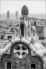 Gallery print  Impressive architecture and mosaic art at Park Guell