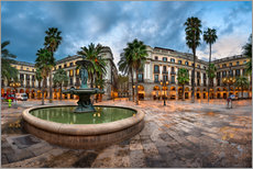Gallery print  Placa Reial in Barcelona