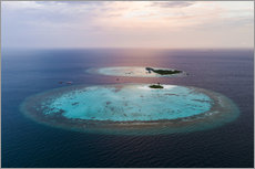Wall sticker  Islands at sunset in the Maldives - Matteo Colombo