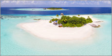 Wall sticker  Aerial view of island in the Maldives - Matteo Colombo