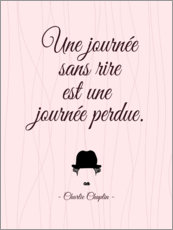 Wall sticker  A day without laughter (French) - Typobox