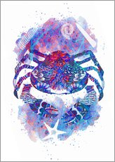 Wall sticker  Psychedelic Crab - MiaMia