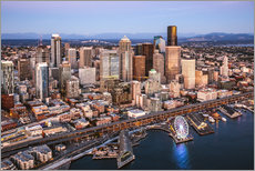 Gallery print  Aerial view of Seattle skyline, USA - Matteo Colombo