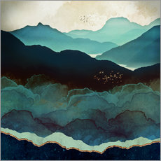Gallery print  Indigo Mountains - SpaceFrog Designs