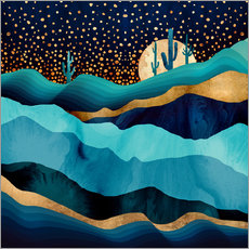 Gallery print  Indigo Desert Night - SpaceFrog Designs