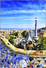 Gallery print  Park Guell in Barcelona