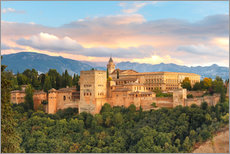 Wall sticker  Alhambra with Comares tower