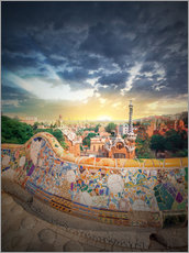Gallery print  The famous park Guell in Barcelona