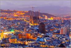 Gallery print  Aerial view of Barcelona