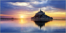 Wall Stickers  Le Mont-Saint-Michel at sunset