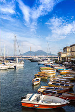Wall sticker  Port of Naples and Mount Vesuvius