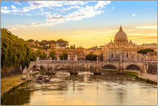Wall sticker Saint Peter Basilica with Sant'Angelo Bridge