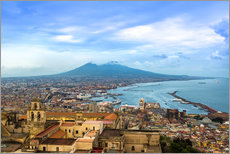 Wall sticker  Naples and Mount Vesuvius