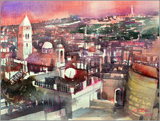 Gallery print  Jerusalem, Old Town with Church of the Redeemer - Johann Pickl