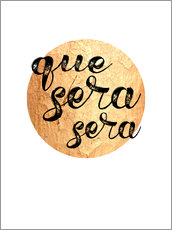 Wall sticker Que sera gold