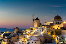 Gallery print  Oia at sunset, Santorini, Greece - Circumnavigation