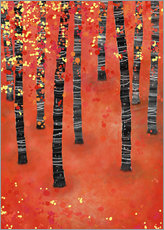Gallery print  Birches in an autumn landscape - Nic Squirrell