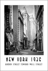 Wall sticker Historic New York Broad Street to Wall Street