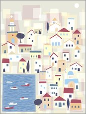 Gallery print  Colorful houses on the island Chalki - Nic Squirrell
